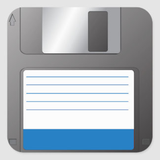 Floppy Disk Square Sticker