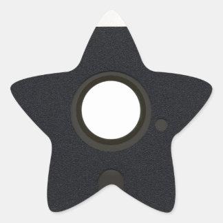 Floppy disk star sticker