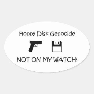 floppy disk! oval sticker