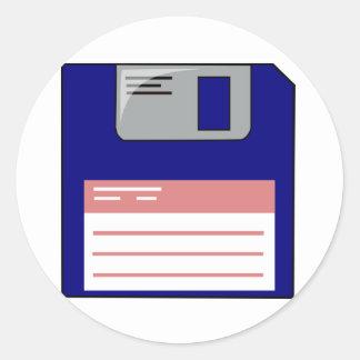 Floppy Disk Stickers Round Sticker
