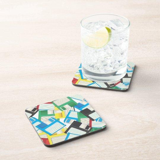 Floppy Disks Beverage Coaster