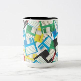 Floppy Disks Two-Tone Coffee Mug