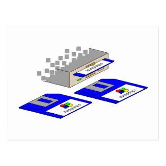 Floppy Disks Postcard