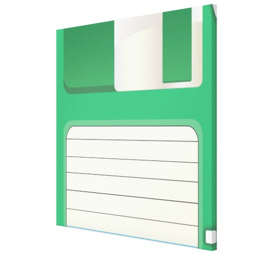 Floppy Disks Stretched Canvas Print