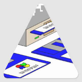 Floppy Disks Triangle Sticker
