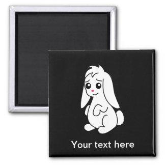 Floppy Ear Cute White Bunny Rabbit Refrigerator Magnet