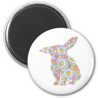 Floppy-Eared Bunny 2 Inch Round Magnet