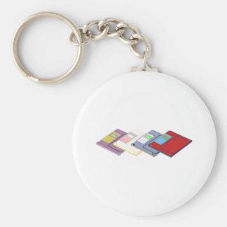 floppy passion basic round button keychain