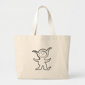 Floppy Pointy Ear Kids Jammies Design Large Tote Bag