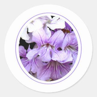 Flor #13 pegatina redonda