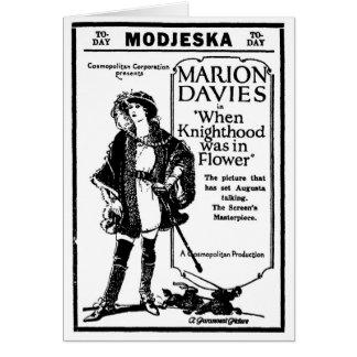 Flor 1923 del Knighthood de Marion Davies Tarjeta De Felicitación