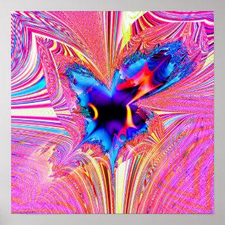 Flor #1.1 del fractal póster
