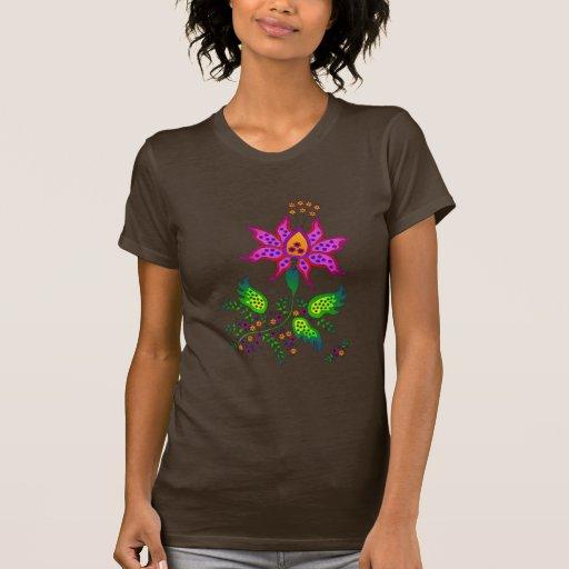Flor 1 de la fantasía camisetas