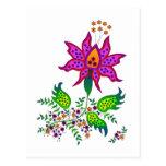 Flor 1 de la fantasía postales