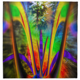 Flor 2 del arco iris servilletas imprimidas