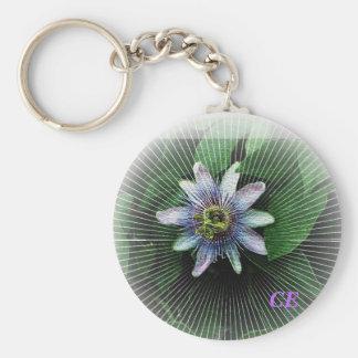 Flor 3, CE de la pasión Llavero Redondo Tipo Pin