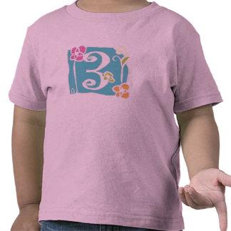 Flor 3 de las camisetas de los múltiplos