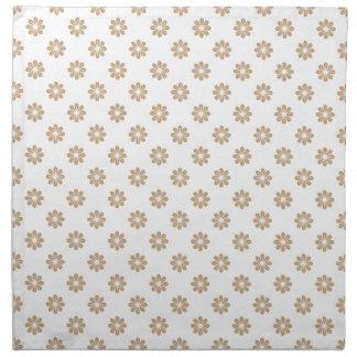 Flor 8 de la arena servilletas imprimidas