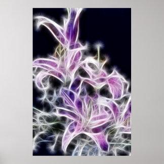 Flor abstracta 1 por la foto del papá de la danza impresiones