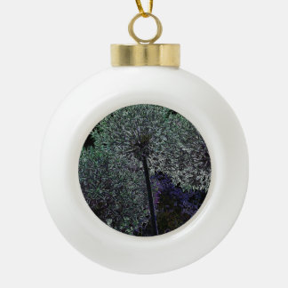 Flor abstracta adorno de cerámica en forma de bola