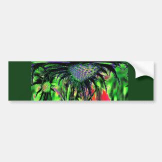 Flor abstracta pegatina de parachoque