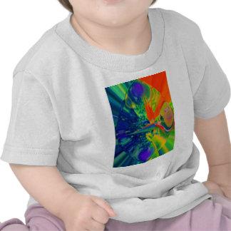 Flor abstracta de la ave del paraíso camisetas
