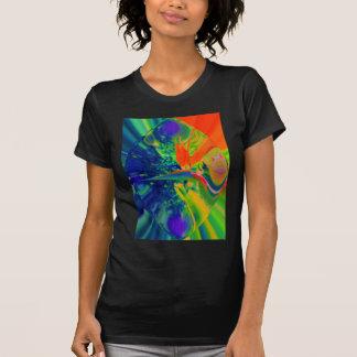 Flor abstracta de la ave del paraíso camiseta