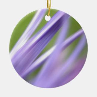 flor abstracta, de la colección del regalo de la adorno navideño redondo de cerámica