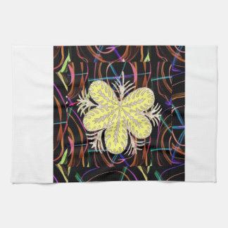 FLOR abstracta de la mirada de la mariposa de 100 Toalla De Cocina