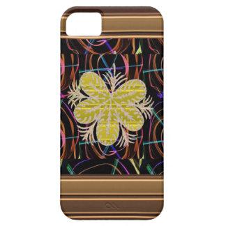 FLOR abstracta de la mirada de la mariposa de los Funda Para iPhone 5 Barely There