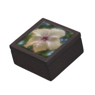 Flor abstracta del hibisco cajas de recuerdo de calidad