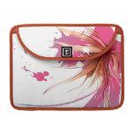 Flor abstracta del hibisco funda para macbooks
