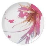 Flor abstracta del hibisco plato de cena