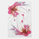 Flor abstracta del hibisco toalla