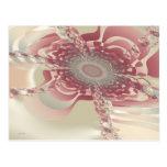 Flor abstracta del uF Tarjetas Postales