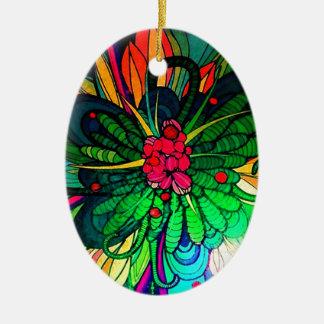 Flor abstracta floral del deslumbramiento ornaments para arbol de navidad