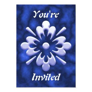 "Flor abstracta invitación 5"" x 7"""