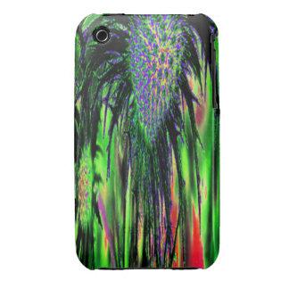 Flor abstracta iPhone 3 Case-Mate cárcasa