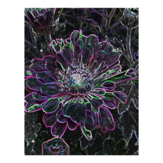 Flor abstracta membrete personalizado