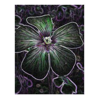 Flor abstracta membrete