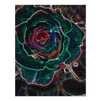 Flor abstracta plantilla de membrete
