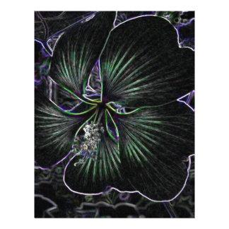 Flor abstracta membretes personalizados