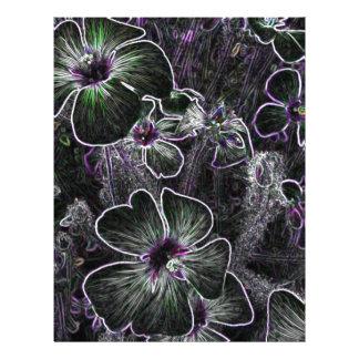 Flor abstracta membrete a diseño