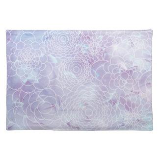 Flor abstracta moderna azul del diseño floral de l manteles individuales