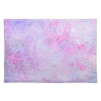 Flor abstracta moderna rosada del diseño floral de manteles
