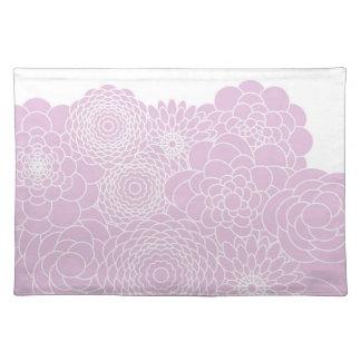Flor abstracta moderna rosada del diseño floral de manteles individuales