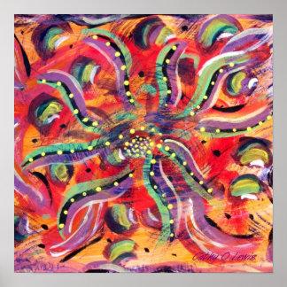 Flor abstracta impresiones