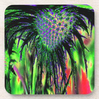 Flor abstracta posavasos
