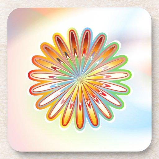 Flor abstracta posavasos de bebidas