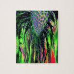 Flor abstracta puzzle con fotos